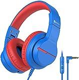 Kinder kopfhörer, Kabel Kopfhörer für Kinder über Ohr, HD Stereokopfhörer mit Mikrofon,...