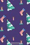 Notizbuch: Weihnachtskerzen 110 Seiten Journal liniertes Papier   glänzendes Softcover   Notizbuch,...