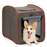 Petsfit Hundebox Faltbare für Hund & Katze Transportbox Katzenbox Auto Stoff für große kleine...