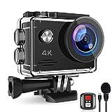 Action Cam 4K 20MP, Unterwasserkamera mit EIS Anti-Shake, Fernbedienung Externem Mikrofon Actioncam...