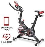 Miweba Sports Indoor Cycling MS100 Fitnessbike - 10 Kg Schwungmasse - Stufenfreie...