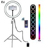 Hemistin Ringlicht, 30CM 12Zoll LED RGB Ringfülllicht Handyclip für Außenaufnahmen...