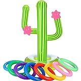5-teiliges aufblasbares Kaktus-Ring-Wurfspiel-Set, schwimmender Schwimmring-Wurf, enthält 1 x...