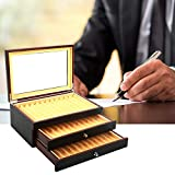 GJCrafts 34 Slots Pen Display Box mit Glasfenster Glasplatte, große Kapazität dreistufige Vitrine...