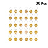 Toyvian 30 Stück Nummer Schlüsselkette Runde ID-Tags Nummern 1-30 Gepäck-ID-Tags für...