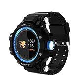 KQHSM Farbe Schirm-intelligentes Armband Stepping Wasserdicht Multifunktions-Rundsieb aufrufbare Uhr...