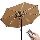 Sonnenschirm Lichterkette Warmweiß LED Lichtbänder mit Fernbedienung 8 Modi Timer, Sonnenschirm...