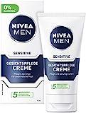 NIVEA MEN Sensitive Gesichtspflege Creme im 2er Pack (2 x 75 ml), Feuchtigkeitscreme für Männer...