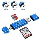 TF/SD USB A 3.0 Kartenleser, Vogek 3 in 1 Externe Kartenlesegerät mit USB A Micro USB und USB A...