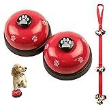 VIKEDI 2 Stück Trainingsglocken für Haustiere und 1 Stück Hunde Hund Türklingeln Ausbildung...