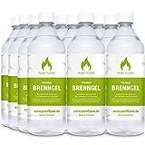 12 x 1L Brenngel für Gel Kamine & Gel Feuerstellen - Hergestellt aus Premium Bio-Ethanol 96,6% Vol....