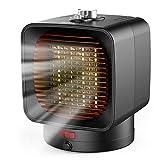 Ommani Heizlüfter Energiesparend 1500W / 750W, 1 Sekunden Heizung Keramik Heizlüfter, 2 Modi & 3...