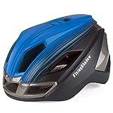 FlyingShadow Erwachsene Urban Fahrradhelm mit Licht MTB Helm Herren Damen Verstellbar Rennradhelm...