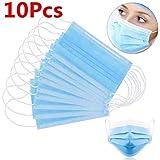 10 Stck Einweg OP-Maske Gesichtsmaske 3-lagig Mundschutz Staubschutz Infektionsschutz Schutzmaske...