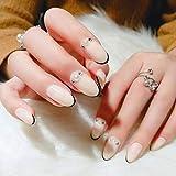 Falsche Nägel Scharfer Kopf gefälschte Nägel Mode Elegante abnehmbare Imitation Perle Dekor...