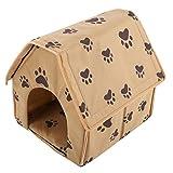 Cikonielf Hundebett Katzenbett Hundehöhle Faltbarer Hundehütte Katzenhöhle Katzenhaus Abnehmbares...