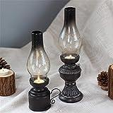 ZzheHou Kerzenhalter Kerze Teelichthalter Retro Glasabdeckung Petroleumlampe Cafe Bar...