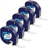 MarkField kompatible Band als Ersatz für Dymo Letratag Etikettenband Plastic White 12mm x 4m für...