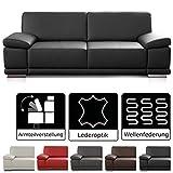 CAVADORE 2,5-Sitzer Sofa Corianne in Kunstleder / Kleines Leder-Sofa in hochwertigem Kunstleder und...