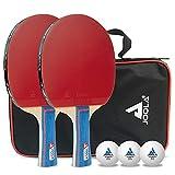 JOOLA Tischtennis-Set Duo Bestehend aus 2 Tischtennisschläger + 3 Tischtennisbälle + 1...