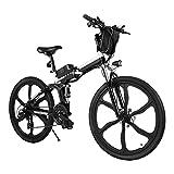 Elektrofahrrad E-Bike Klapprad, 26 Zoll Ebike Herren 250W Elektrisches Fahrrad Mit Herausnehmbarer...