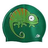 Diapolo Professionale Schwimmkappe Chameleon Silikon Badekappe Bademütze Schwimmmütze für Damen...