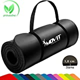 Movit Pilates Gymnastikmatte, Yogamatte, phthalatfrei, SGS geprft, 183 x 60 x 1,0cm, Yoga Matte in...