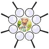 Lupe Kinder 8 Stück, Lupen Set Spielzeug Kunststoff Tragbare Minilupe Taschenlupe Vergrößerun...
