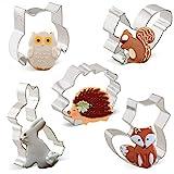 Orapink Tiere Ausstechformen Formen - Kaninchen, Eule, Fuchs, Igel und Eichhörnchen - 5 Stück...