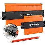 JACKMEND 2-in-1 Konturenlehre - 5 & 10-Zoll, mit Metallschloss - Vervielfältigungslehre,...