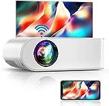 WiFi Beamer, YABER V2 6000 LM Tragbar Mini Beamer, Unterstützt 1080P Full HD Video Beamer,...