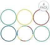 6 Hula Hoop Fitness Reifen für Anfänger & Kinder - Herausnehmbare Teile, buntes Spielzeug zum...