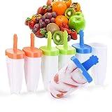 Eisformen [Neuste Modell] IKICH 6 Eisfrmchen Popsicle Formen Set, Eisform Silikon, Stieleisformer...