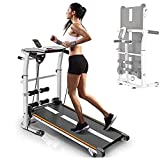 Mechanisches Laufband, Multifunktionale Klappbare Laufmaschine, Jogging-Trainingsmaschine, Geeignet...