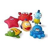 Baby badespielzeug(6PCS)Mit Kostenlos Badespielzeug Aufbewahrungstasche, Badetiere Badewanne...