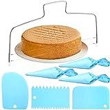 7 Stück Verstellbarer Tortenbodenteiler Kuchenschneider Edelstahl Tortenschneider mit 2 gezahnten...
