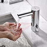KAIBOR Infrarot Sensor Wasserhahn Bad, Chrom Automatik Waschtischarmatur Badarmatur Einhebelmischer...