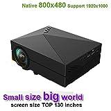 HD LED Mikroprojektor Full HD 1080P Mini 3D-Projektion 130 '' Home Cinema LCD Film-Projektor USB...