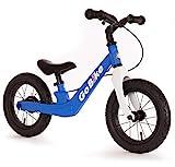 Bachtenkirch 12' Lernlaufrad Go Bike, matt-blau/weiß mit Luftreifen und Bremse (608-GB-28)