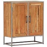 CASTLOVE Sideboard 65 x 30 x 75 cm Akazienholz Massiv