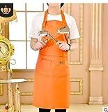Frauen Männer Wasserdichte Küchenschürze mit Taschen Verstellbarem Grillschürze, Einfach zu...