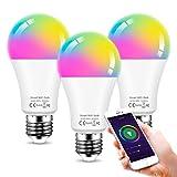 Smart LED Lampe E27 12W Wifi Lampen RGBW Wlan Birne Kompatibel mit Alexa Google Home, 1150 lm,...