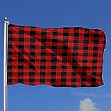 qinzuisp Fahne Buffalo Check Lebendige 90X150Cm Yard Banner Urlaub Outdoor Garden Flagge Classic...