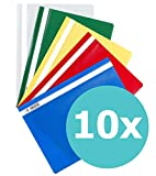 ELBA 100742149 Schnellhefter A4 10er Pack aus Kunststoff für ca. 160 DIN A4-Blätter farbig...