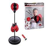 BANDRA Boxsack Set Höhenverstellbar 75-105cm Boxstand Punching Stand Punchingball Set mit...