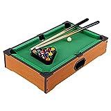 XXCC 20 Zoll Tisch Top Billard Tischtisch Miniatur Billardtisch Pool Spiel Set Holz Mini...