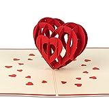 PaperCrush Pop-Up Karte 3D Herz (Gro) - Besondere Geburtstagskarte fr Sie und Ihn, Romantische...