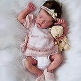 Handgefertigte Wiedergeburt Puppe, Reborn Baby Puppen Full Silikon Vinyl, das Sieht echt schlafendes...