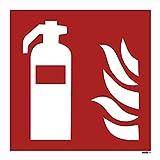 10 Feuerlöscher Aufkleber 210 mm Aufkleber Feuerlöscher 10 Stück vorgestanzt für Innen & Außen,...