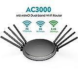 DZSF AC3000 Tri-Band Wireless WiFi Router 2.4G + 5 Ghz Mit Touch Gigabit WAN/LAN-Smart...